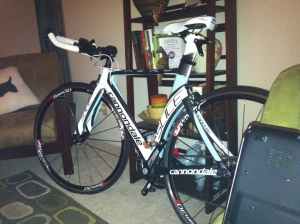 Pre Bike Fit (taken awhile ago, must have been at night hence the weird quality)