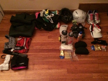 Ready to go!  Just need to pack up all of this stuff first...